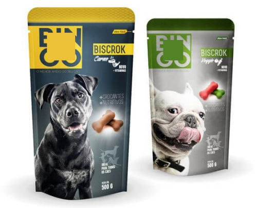 Support en plastique jusqu'à Zip Lock Pet Treat Package Pouch personnalisé Dog Snack Food Bag emballage